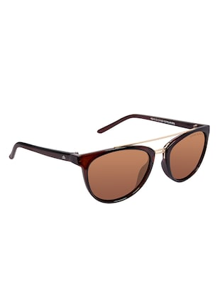 David Blake Brown Round Polarised & UV Protected Sunglass - 15347418 - Standard Image - 2
