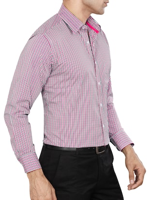 pink polyester blend formal shirt - 15347858 - Standard Image - 2