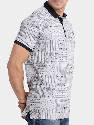 grey cotton all over print t-shirt - 15348150 - Standard Image - 2