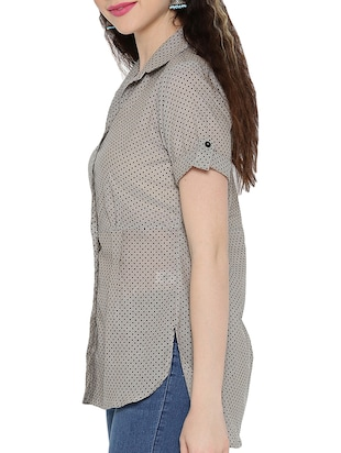 polka dotted high-low tunic - 15348714 - Standard Image - 2