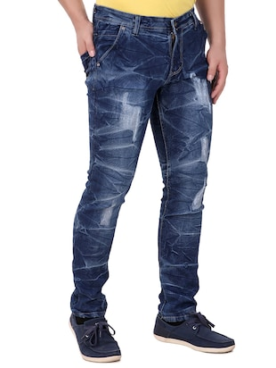 blue denim ripped jeans - 15349219 - Standard Image - 2