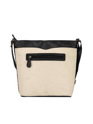 beige leatherette (pu) regular sling bag - 15361441 - Standard Image - 2