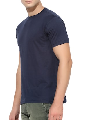 navy blue cotton t-shirt - 15364034 - Standard Image - 2