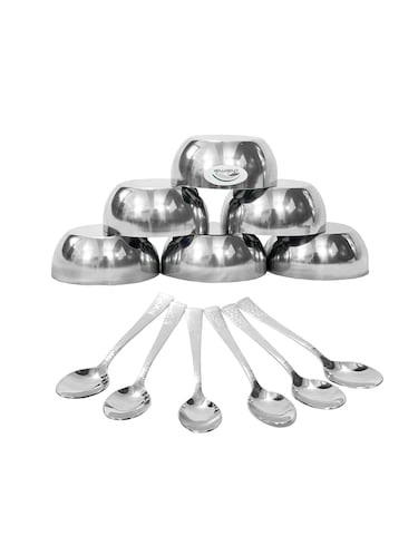 Buy Big Silver Bowl by Sai Overseass - Online shopping for