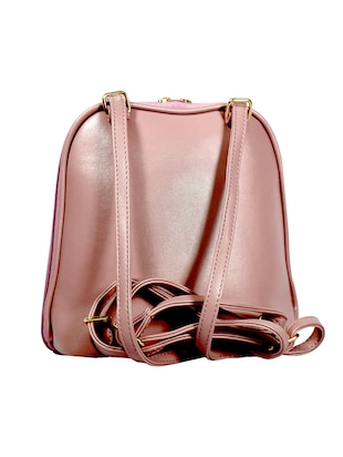 pink leatherette (pu) regular sling bag - 15384510 - Standard Image - 2