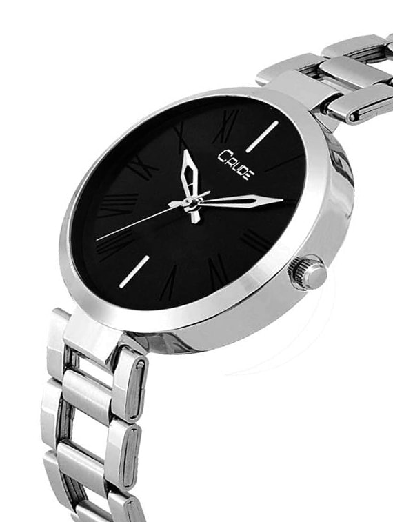 155b0f9e2 ... Crude rg2039 silver chain black dial watch for women - 15397400 - Zoom  Image - 2