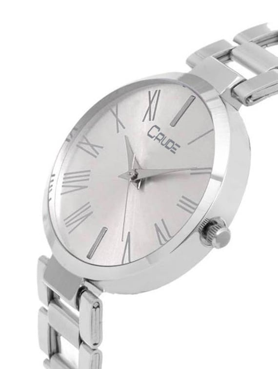 8941ed865 ... Crude rg2041 silver chain white dial watch for women and girls -  15397467 - Zoom Image