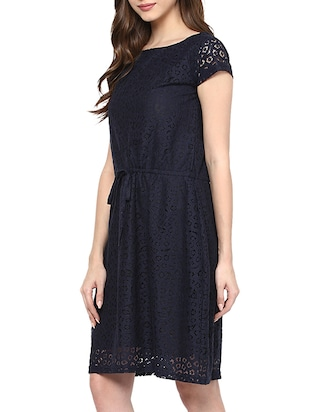 lace draw string waist dress - 15400246 - Standard Image - 2