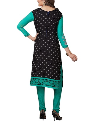 Printed unstitched combo suit - 15400954 - Standard Image - 5