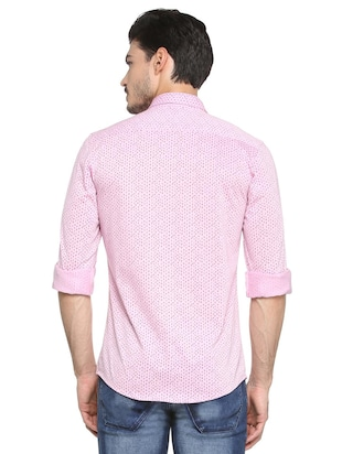 pink cotton casual shirt - 15410585 - Standard Image - 2