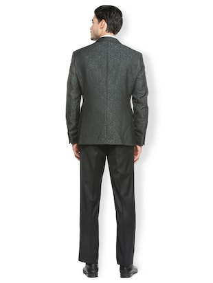 green terry rayon single breasted suit - 15410763 - Standard Image - 2