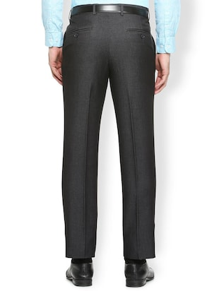 grey terry rayon flat front formal trouser - 15410835 - Standard Image - 2