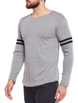 grey cotton t-shirt - 15411931 - Standard Image - 2
