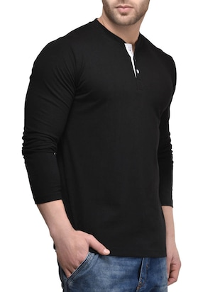 black cotton t-shirt - 15412595 - Standard Image - 2