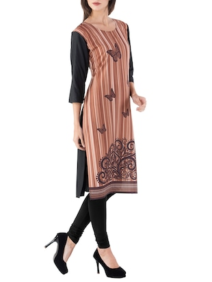 Stripes straight kurta - 15412746 - Standard Image - 2