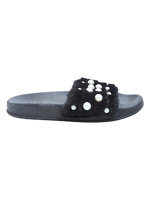 black slip on flip flop - 15413021 - Standard Image - 2