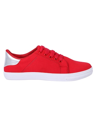 red lace-up sneakers - 15413089 - Standard Image - 2