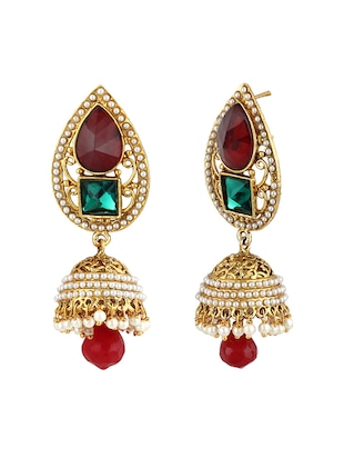 multi colored zinc jhumka - 15413228 - Standard Image - 2