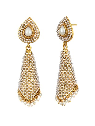 White Drop Earrings - 15413257 - Standard Image - 2