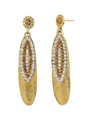 Gold Tone Stone Earrings - 15413291 - Standard Image - 2
