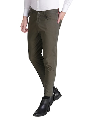 green cotton chinos casual trousers - 15414568 - Standard Image - 2