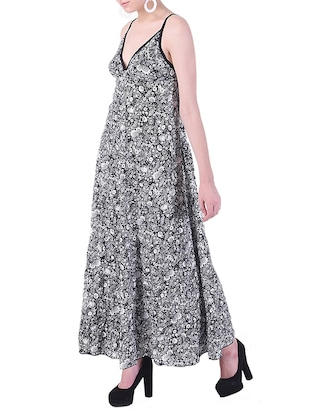 plunge neck maxi dress - 15414743 - Standard Image - 2