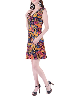 printed a-line dress - 15414982 - Standard Image - 2