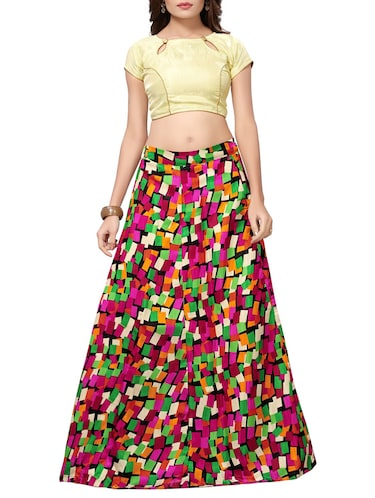 49a9053a30 Buy Printed Flared Lehenga by Aika - Online shopping for Lehengas in ...