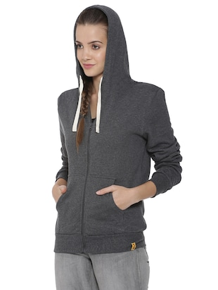 hooded zip up sweatshirt - 15416654 - Standard Image - 2