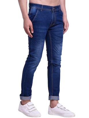 blue denim washed jeans - 15416729 - Standard Image - 2
