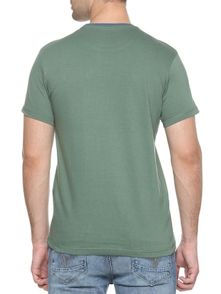green cotton pocket t-shirt - 15417218 - Standard Image - 2
