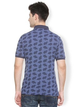 blue cotton all over print t-shirt - 15417224 - Standard Image - 2