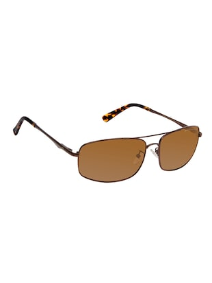 David Blake Brown Rectangular Polarized Uv Protected Sunglass - 15418801 - Standard Image - 2