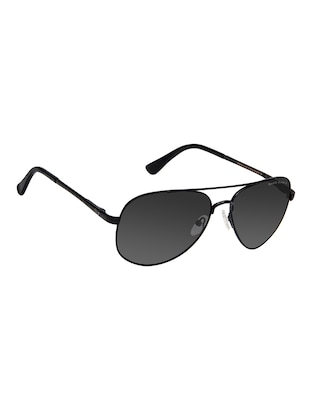 David Blake Black Aviator Polarized Uv Protected Sunglass - 15418816 - Standard Image - 2