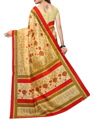 Floral bhagalpuri saree with blouse - 15420161 - Standard Image - 2