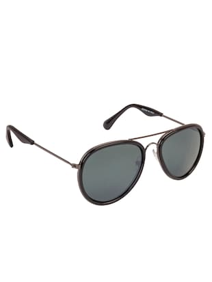 Arzonai Aviator Gunmetal-Green UV Protection Sunglasses [MA-314-S1 ] - 15420458 - Standard Image - 2