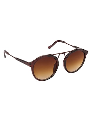 Arzonai Round Brown-Brown UV Protection Sunglasses [MA-397-S3 ] - 15420488 - Standard Image - 2