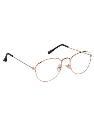 Arzonai Oval Golden-Transparent UV Protection Eyeglasses [MA-312-S2 ] - 15420519 - Standard Image - 2