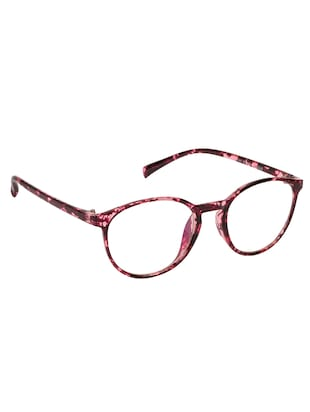 Arzonai Oval Maroon-Transparent UV Protection Eyeglasses [MA-400-S4 ] - 15420527 - Standard Image - 2