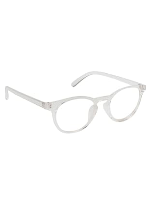 Arzonai Round White-Transparent UV Protection Eyeglasses [MA-402-S5 ] - 15420536 - Standard Image - 2