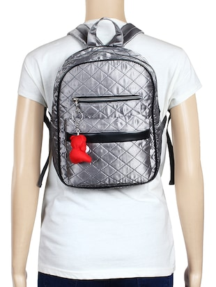 silver satin fashion backpack - 15421037 - Standard Image - 5