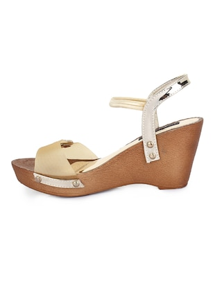 gold back strap wedges - 15425815 - Standard Image - 2