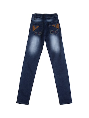 navy blue denim washed jeans - 15427006 - Standard Image - 2