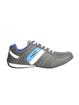 grey leatherette sport shoes - 15428050 - Standard Image - 2