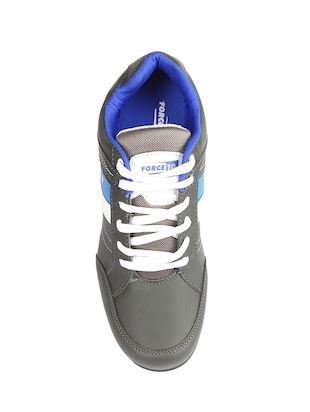 grey leatherette sport shoes - 15428050 - Standard Image - 5