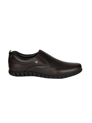 brown Leather formal slip ons - 15428063 - Standard Image - 2