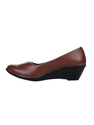 tan slip on formal shoes - 15428535 - Standard Image - 2