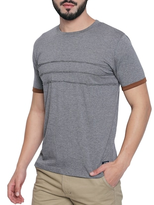 grey cotton t-shirt - 15429683 - Standard Image - 2