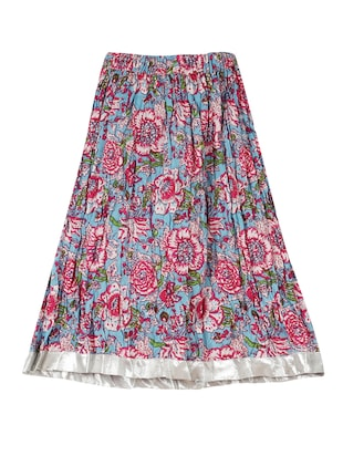 multi colored cotton  skirt - 15430195 - Standard Image - 2