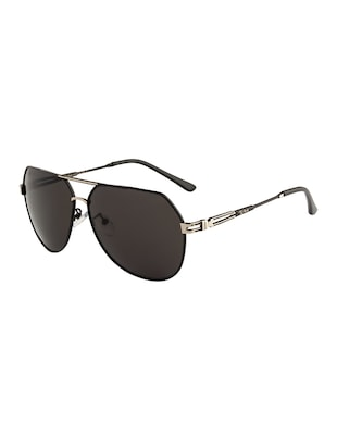 Ted Smith Unisex Aviator Sunglasses (TS-P0965_BLK) - 15431553 - Standard Image - 2